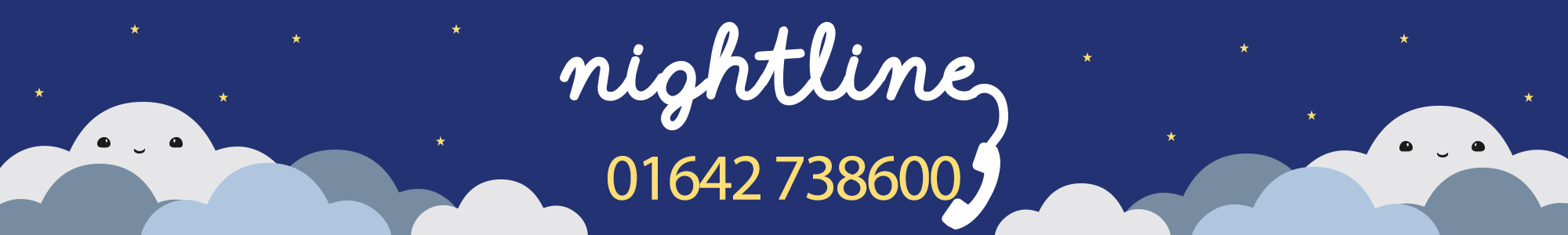 Nightline banner with phone number