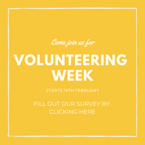 Volunteering week banner