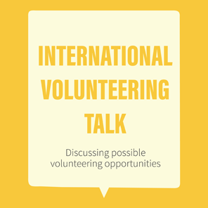 Volunteering talk banner