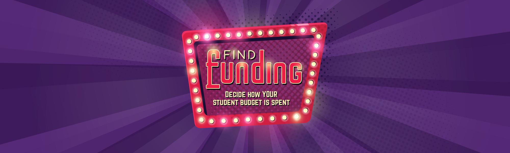 Full width banner find funding