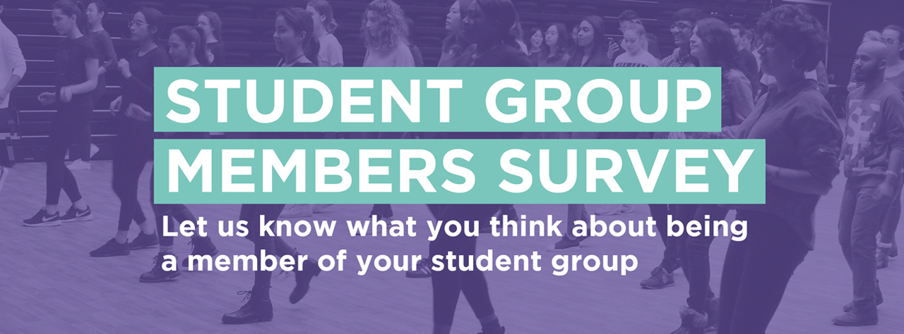 Student groups members survey homepage