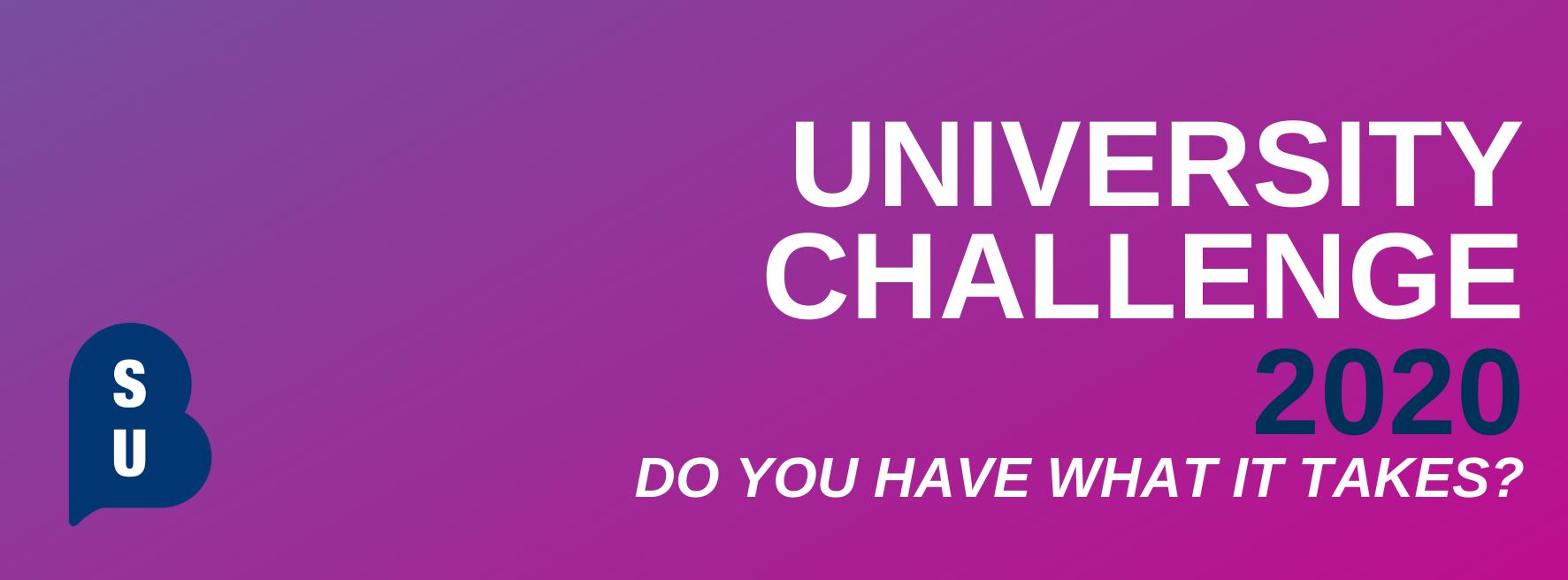 University challenge banner