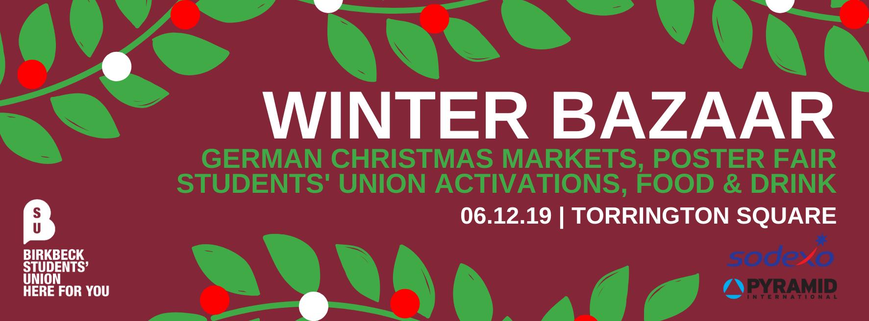 Winter bazaar banner
