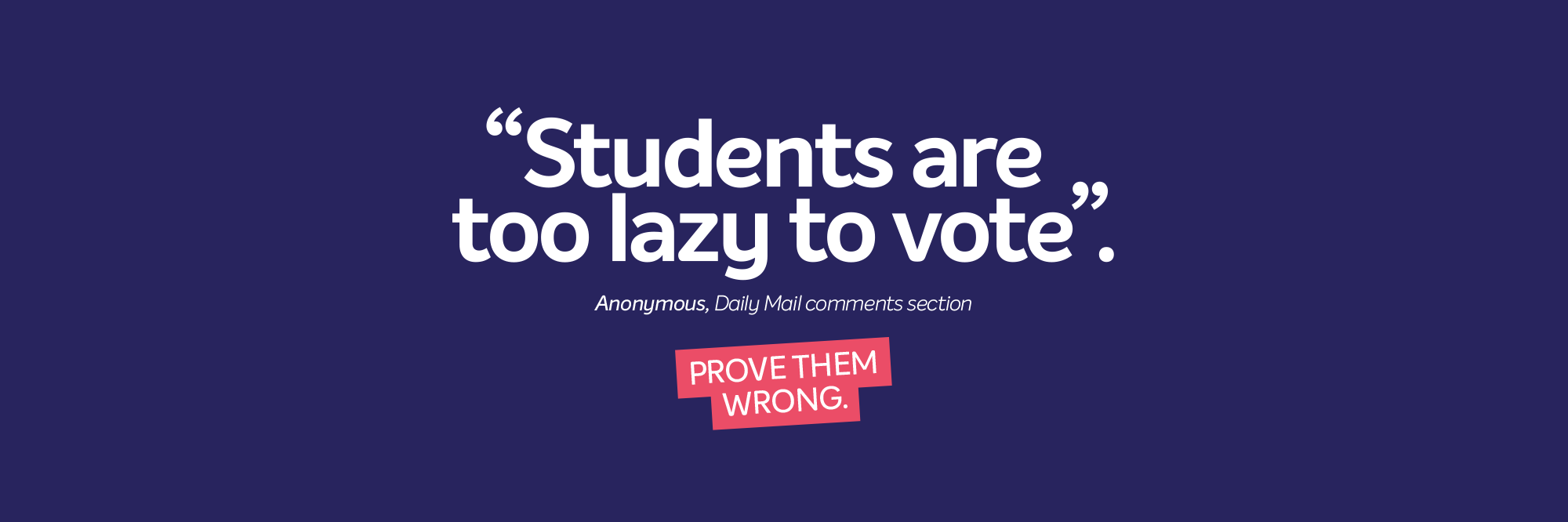 Main web banner students are too lazy to vote