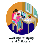 Icon work study childcare