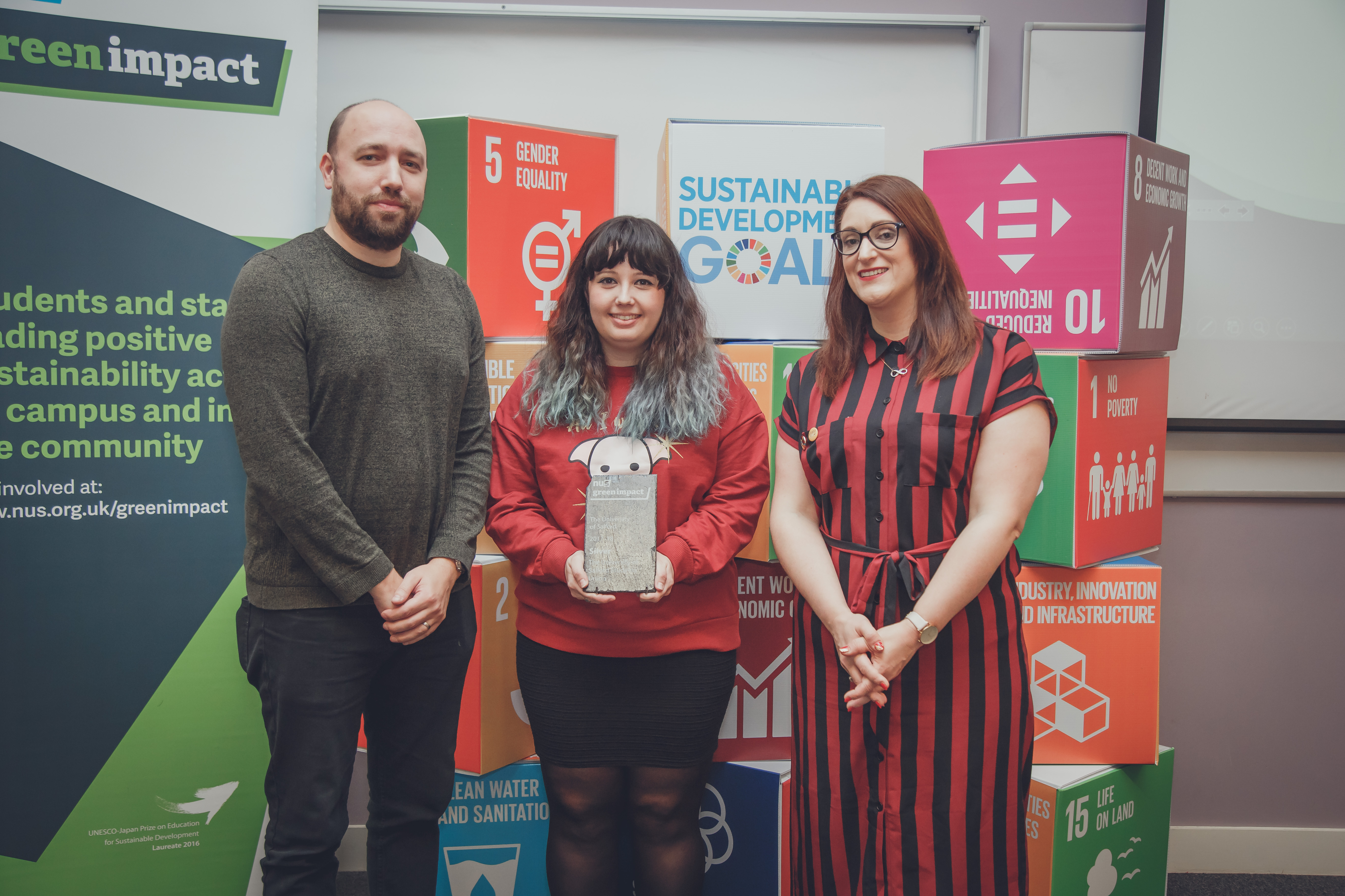 University of salford su receiving their award