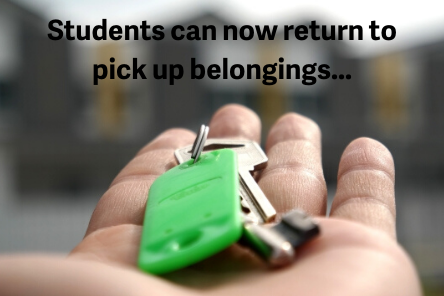 Students can now return to pick up belongings...