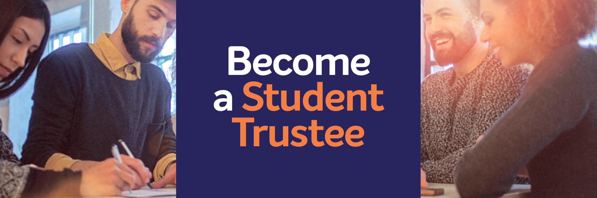 Student trustee banner