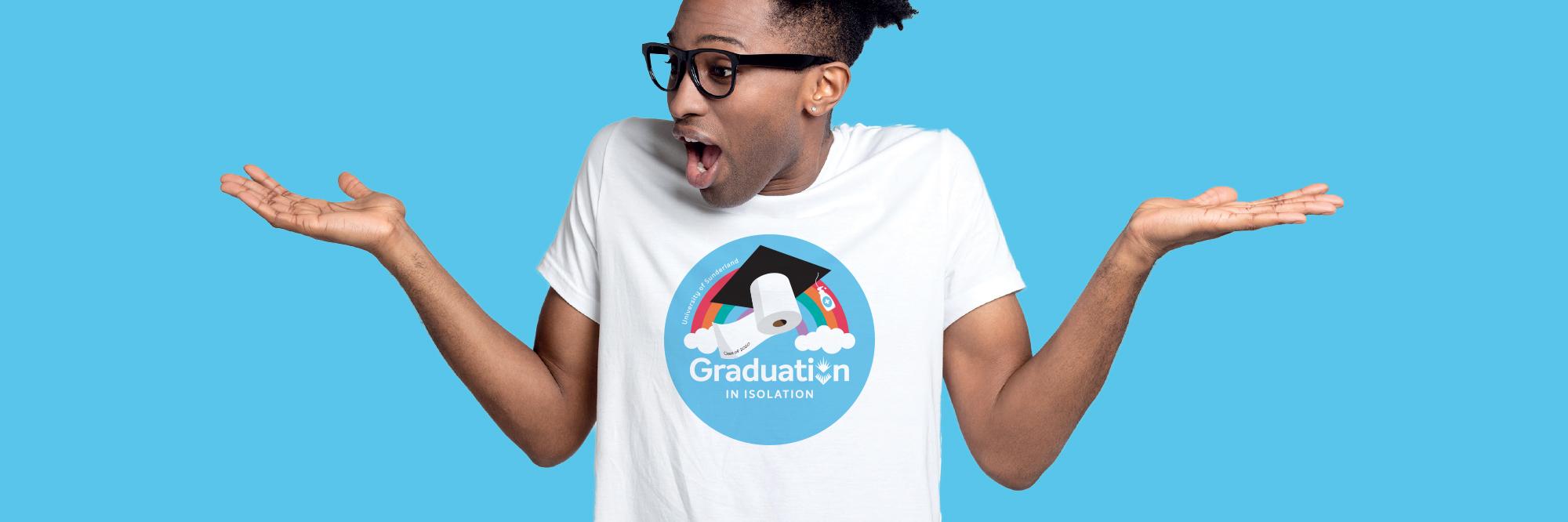 Main web banner graduation in isolation merchandise