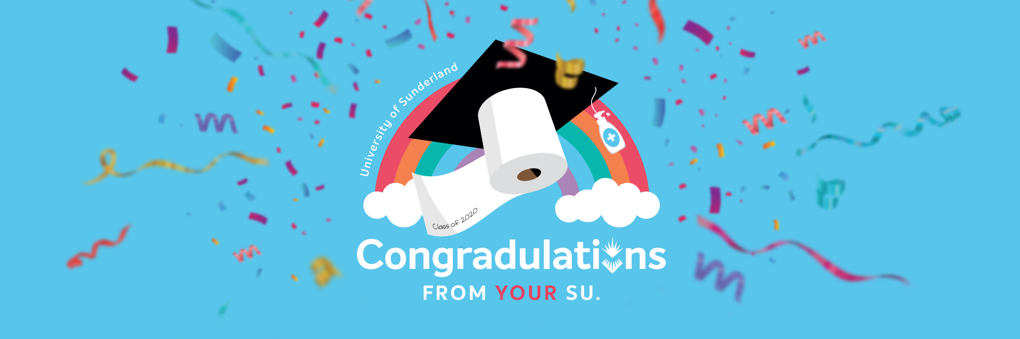 Main web banner congradulations from your su