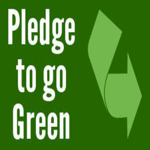 Green pledge button