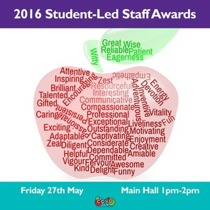 Staff awards event poster