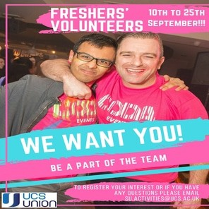 Freshers week volunteers new