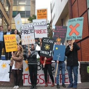 Group of bristol students lobbying for fossil fuel divestment
