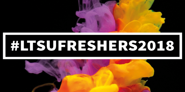 Freshers 2018 event logo two thirds
