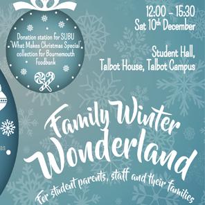 Family winter wonderland web button