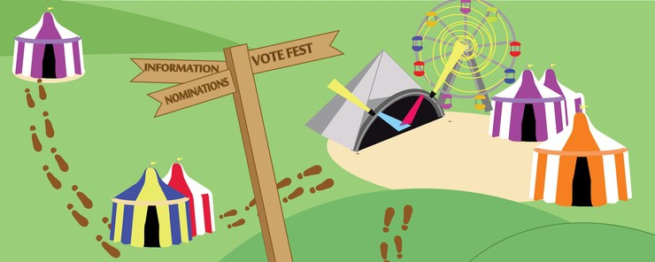 Elections banner vote fest