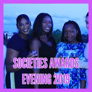Societies awards evening