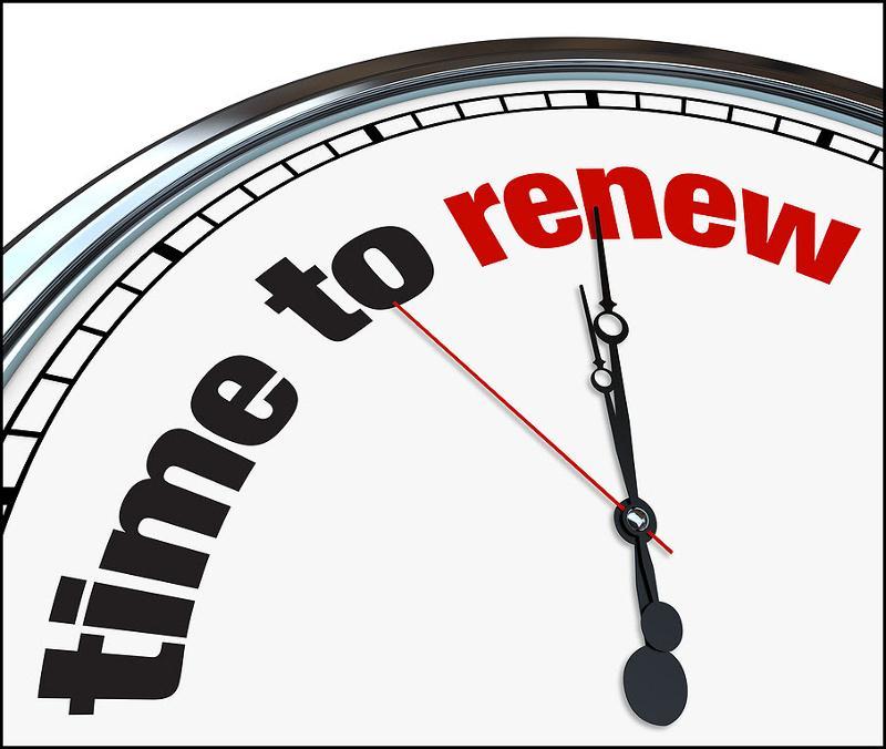 Bigstock time to renew clock 11239937