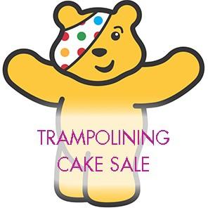 Trampolining cake sale