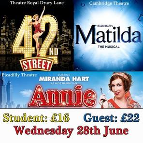 June theatre trip poster