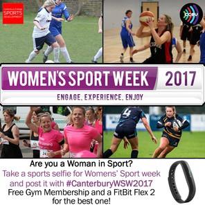 Womens sport week 2017 poster