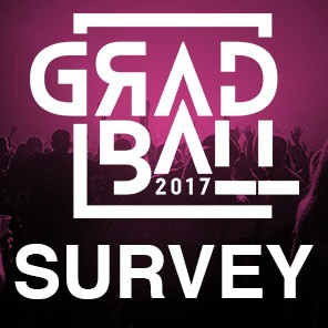Grad ball survey icon