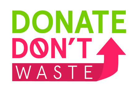2017 donate dont waste logo