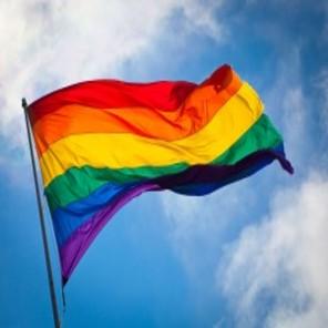 Rainbow flag breeze