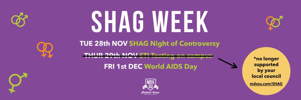 Shag week website banner