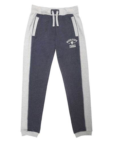 Contrastpanelsweatpants darkdenim