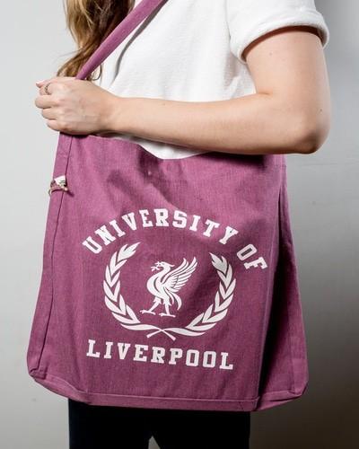 Pink crested bag