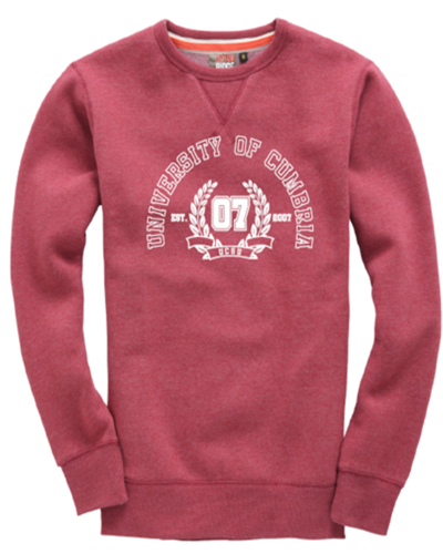 Sweatshirt burgundy melange