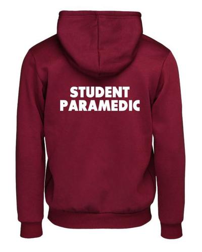 Student paramedic hoodie back