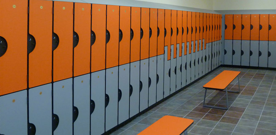 Locker room on campus @ Leeds Beckett Students\' Union