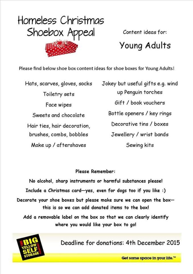 Christmas Shoe Box Appeal Ideas.Homeless Christmas Shoebox Appeal Sheffield Collection Point