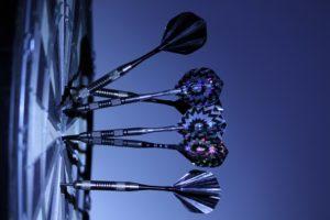 darts in a board