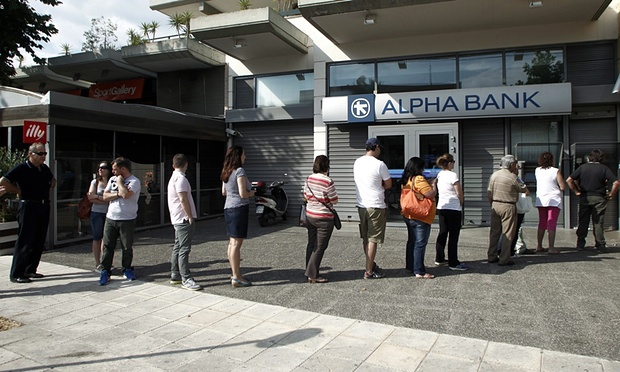 Greek bank queues