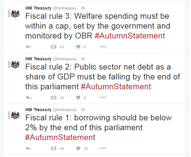 New fiscal rules, Autumn Statement 2016