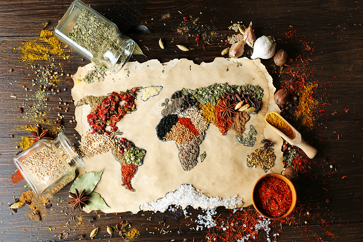 Spice map of world
