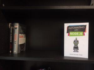 Shaun Stone book on bookcase