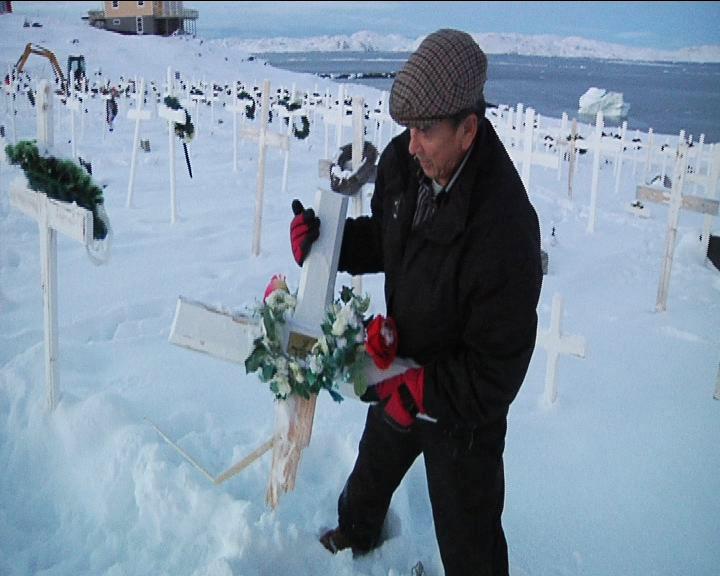Hærværk i kirkegården