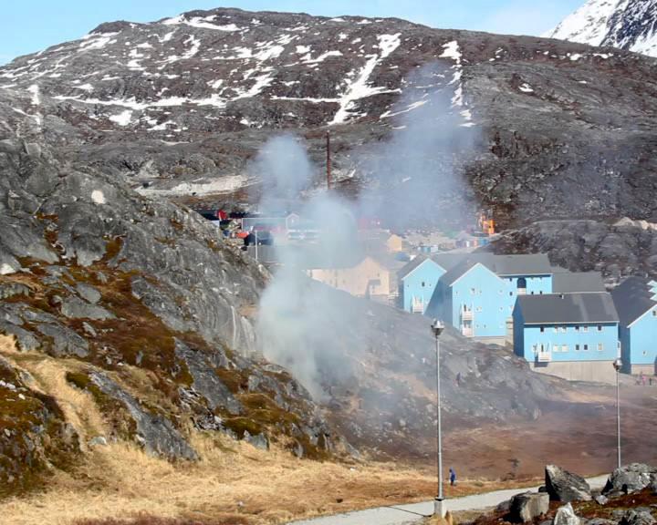 Fjeldbrand i Nuussuaq