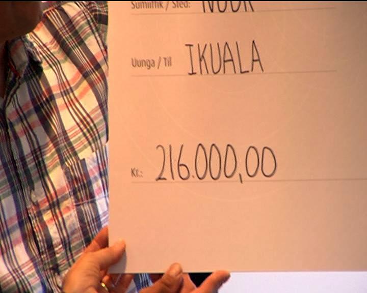 Teles kunder har givet 200.000 kr. til Ikuala