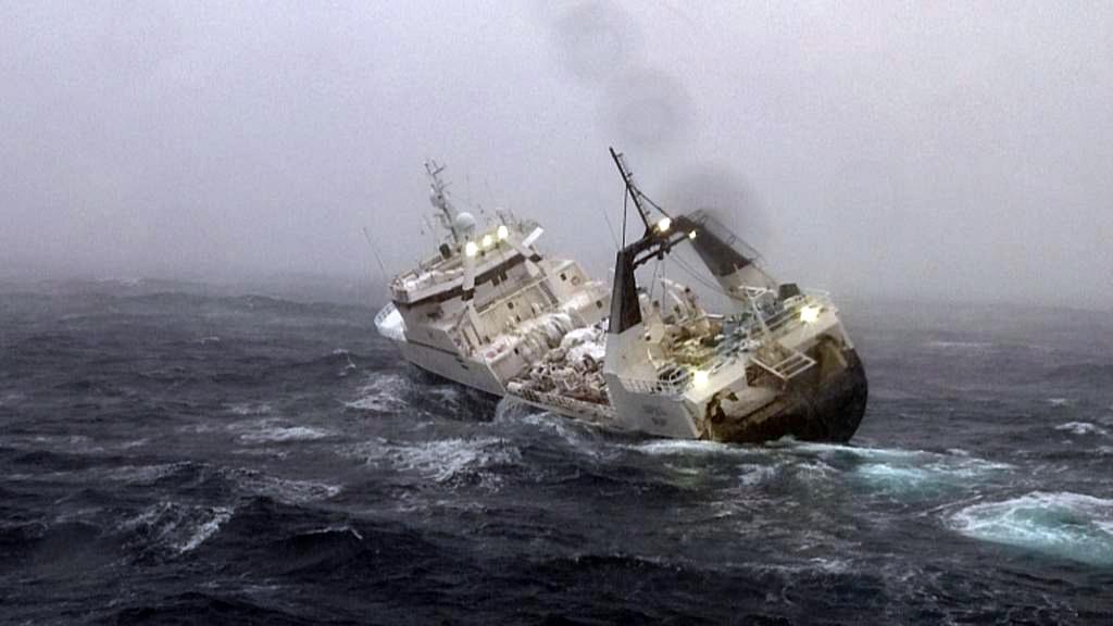Redningsaktion for den canadiske trawler Saputi