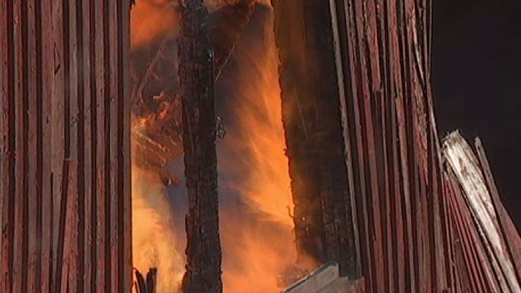 Brand i et forladt lager