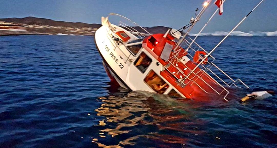 Turistbåd sunket