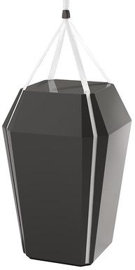 Tk diamant urn glossyblack redigera