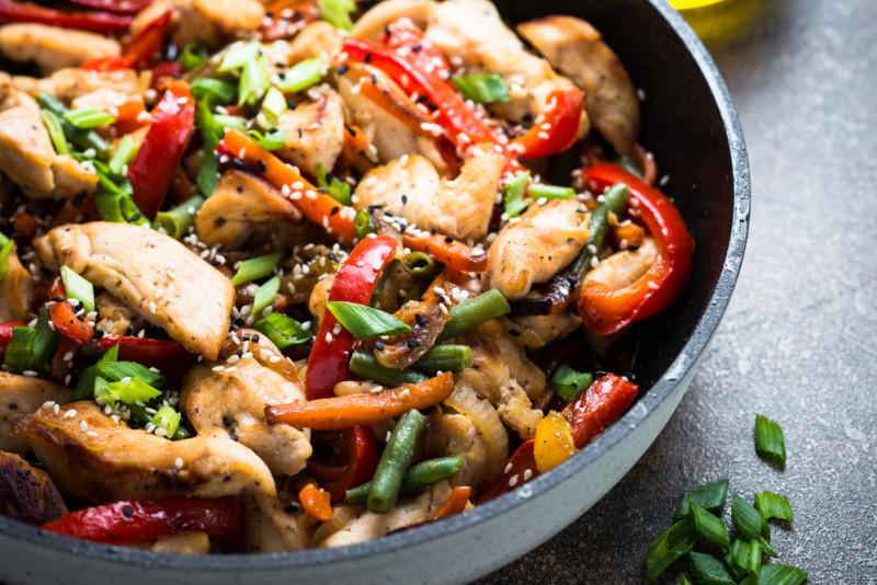 Straccetti di pollo con salsa di soia