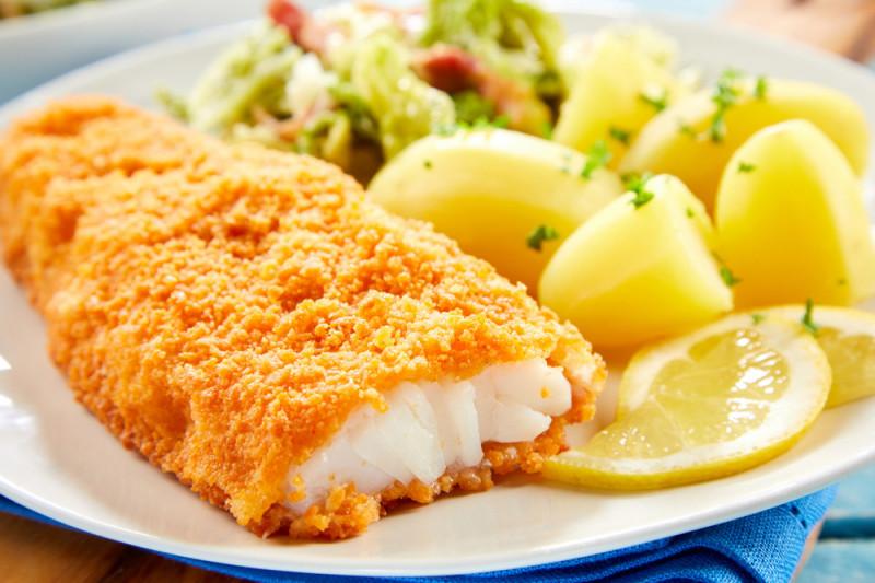 Come impanare il pesce con la farina di mais